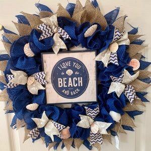 Beach Wreath with shells